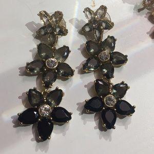 Gray Kate Spade ombré floral earrings